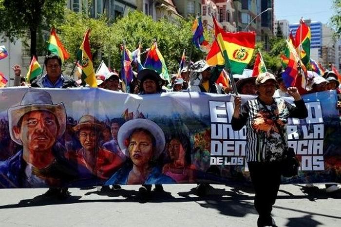 Movimientos sociales de Bolivia por la defensa de la democracia