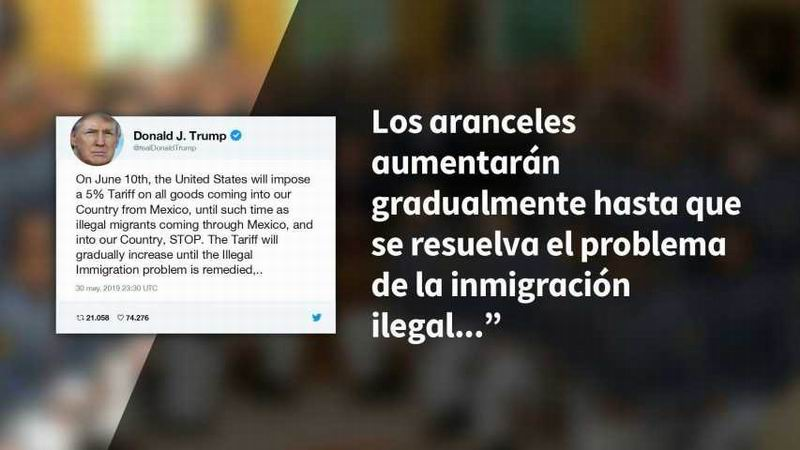 También la amenaza de Trump de imponer un gravamen del 5% sobre todos los productos mexicanos