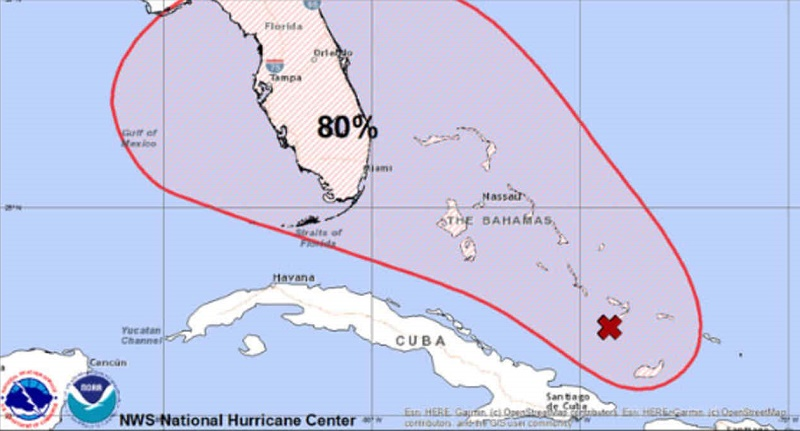 Una nueva tormenta castiga las Bahamas y podría convertirse en un huracán