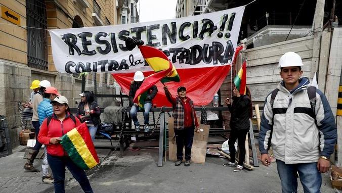 Convertida ciudad de El Alto en epicentro de la resistencia antigolpista en Bolivia