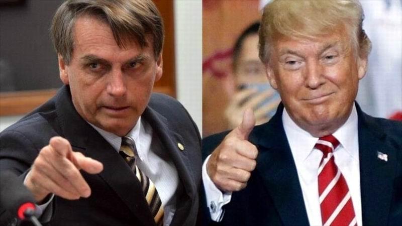 Bolsonaro sugiere apertura de base militar estadounidense en Brasil