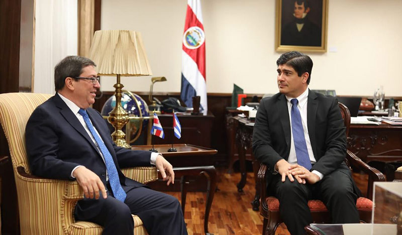 Cuban FM Willing to Strengthen Ties with Costa Rica