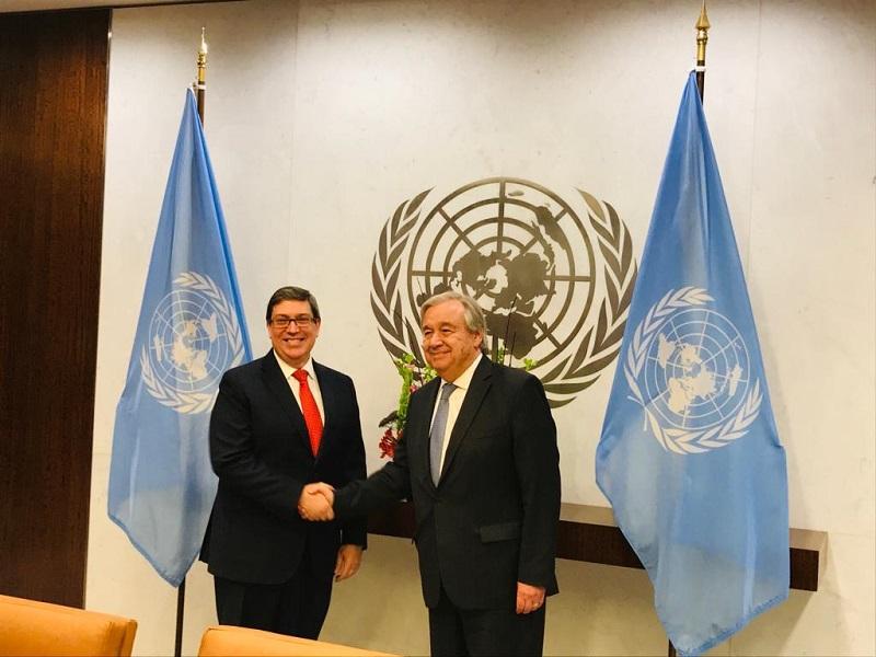 Cuban FM held meeting with UN Secretary General