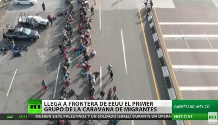 Llegan 1 800 migrantes centroamericanos a la frontera de EEUU