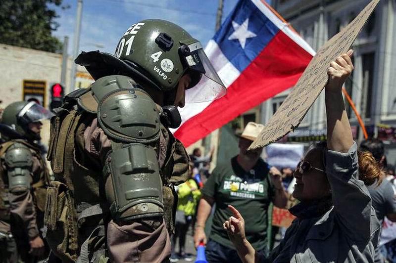 En Chile, la protestas