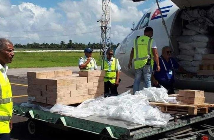 First Cuban shipment of humanitarian aid arrives in the Bahamas