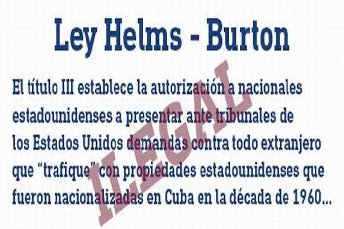 Contra la Ley Helms-Burton, Respeto a la legalidad internacional