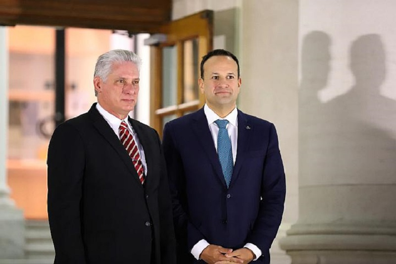 Cuban president and Irish PM hold talks