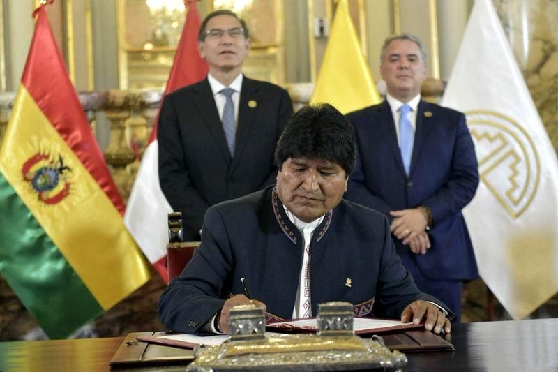 Asume Bolivia la presidencia de la Comunidad Andina de Naciones