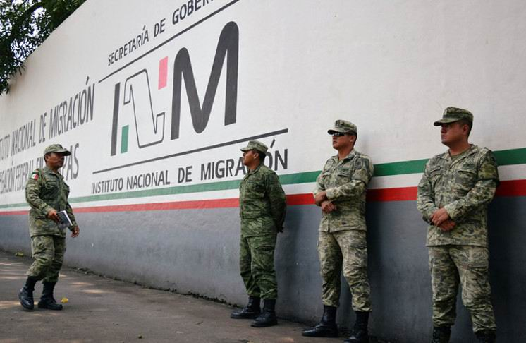 México despliega a los primeros soldados en la frontera con Guatemala