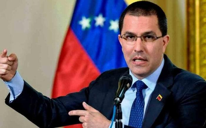 Arreaza rejected U.S. government sanctions against Iran's Chancellor.