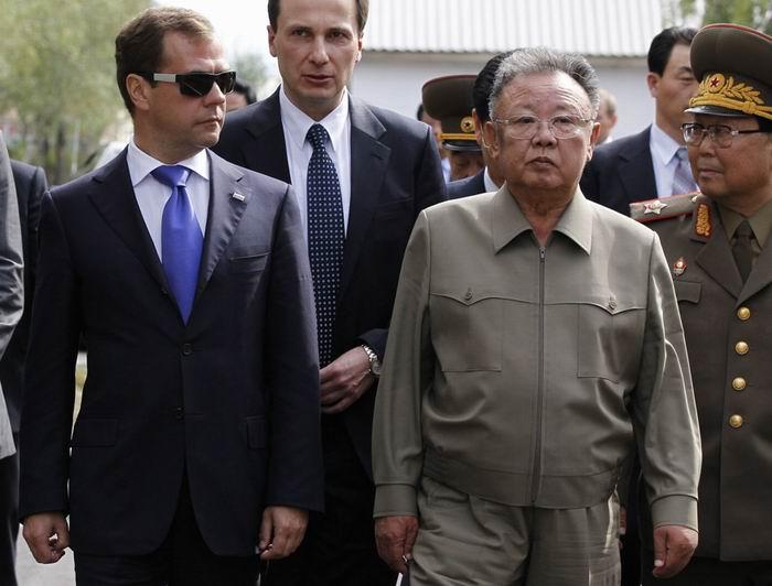 Kim Jong-Il, se reunió con el entonces presidente ruso, Dimitri Medvedev en Siberia oriental.
