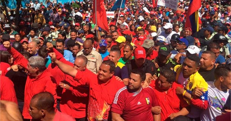 Marcharon este sábado los chavistas en Caracas