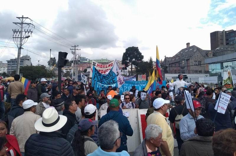 Marchan en Quito contra medidas económicas y sociales de Lenín Moreno