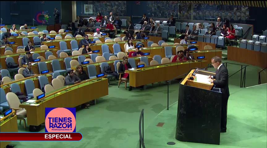 ONU: el mundo contra el bloqueo