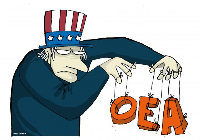 US Government´s hegemonic attempts in Latin America and the complicity of the Organization of American States (OAS)