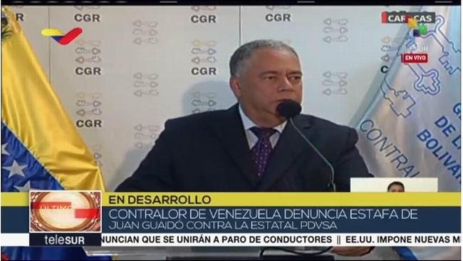 Denuncia la Contraloría venezolana fraude de Guaidó contra de PDVSA