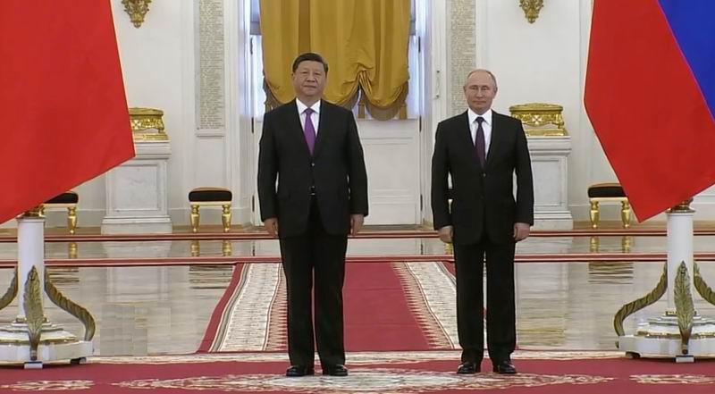 Reunidos los presidentes de China y Rusia en Moscú