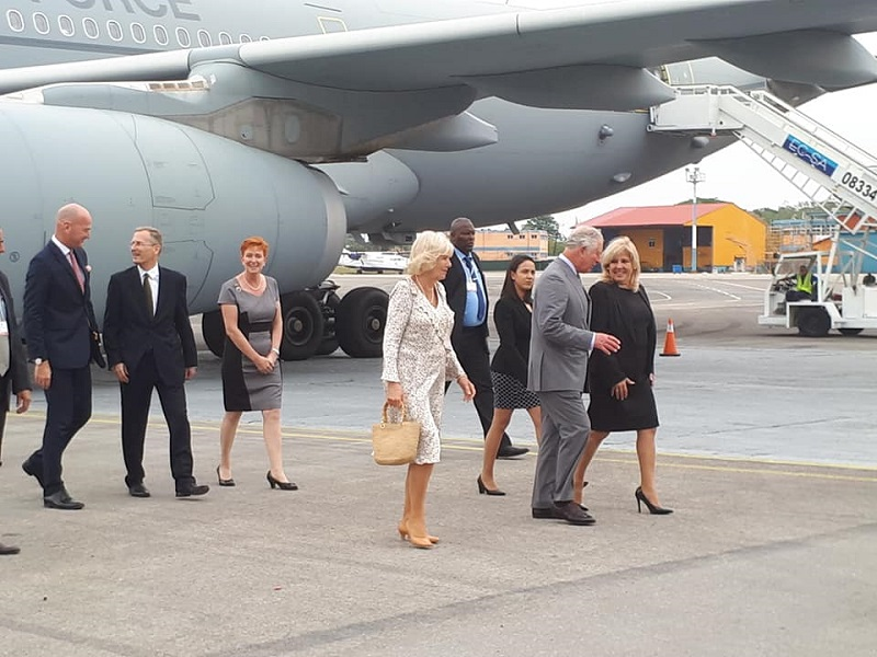 The Royal Highnesses arrived in Cuba