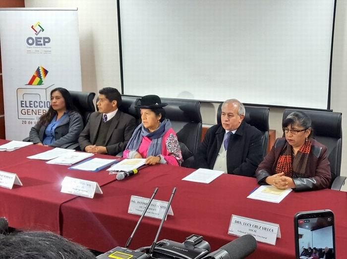 Convoca TSE de Bolivia a elecciones generales para el 2020