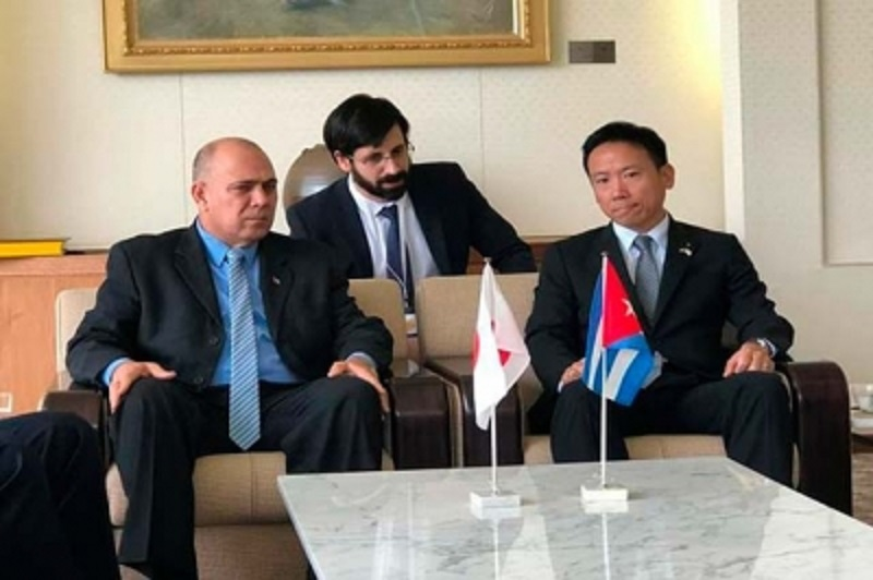 Cuban VP holds talks with leaders during visit to Japan