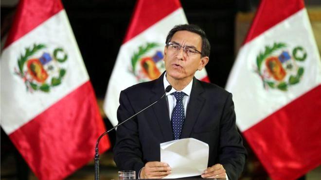 Disuelve presidente peruano al Congreso de ese país