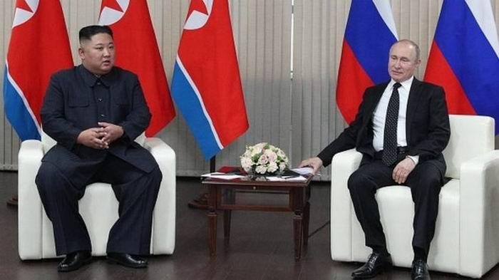 Kim Jong-un y Vladimir Putin. Foto: Getty Images