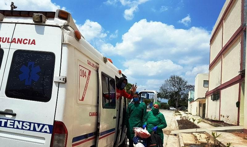 Altas médicas a pacientes con Covid-19 en Hospital Militar de Camagüey