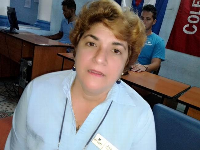 Ana Gladys Martín, Directora de la División Territorial Cienfuegos perteneciente a la Empresa de Aplicaciones e Informática DESOFT.