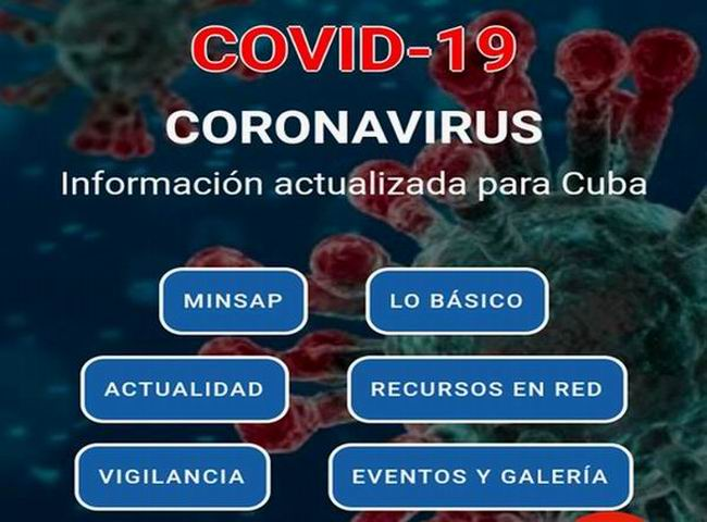 Presenta Portal digital Infomed aplicación móvil sobre el nuevo coronavirus