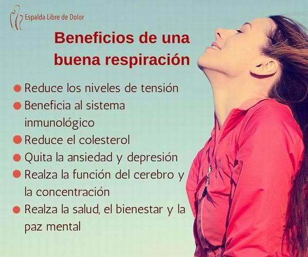 Beneficios de una buena respiración