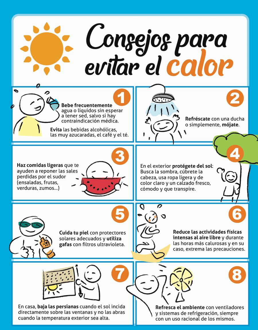 Consejos para evitar el calor