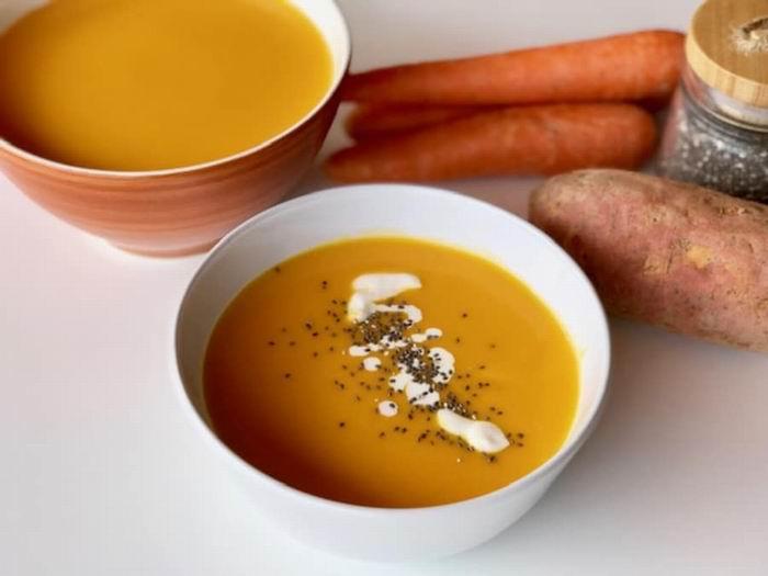 Con boniato y zanahoria un plato especial