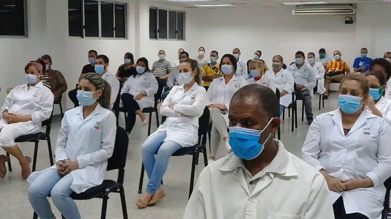 Abanderan a brigada internacionalista en Venezuela (+Audio&Video)