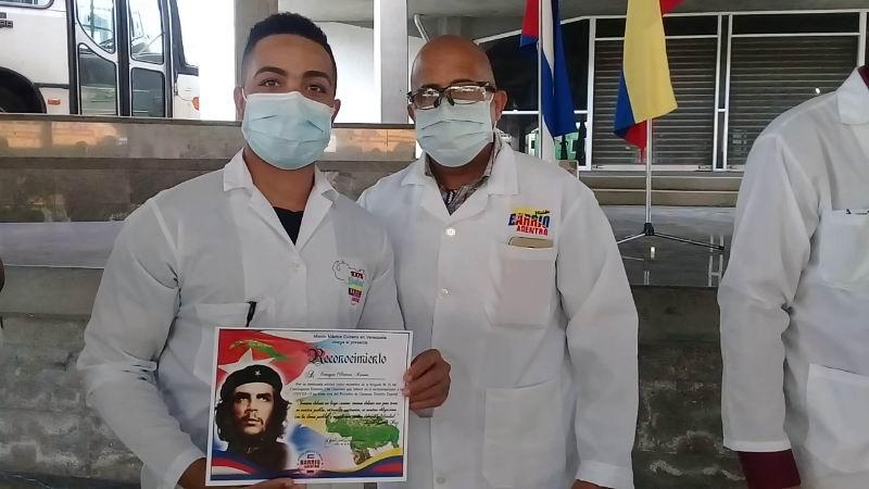 Reconocen a internacionalistas cubanos de Zona Roja (+Audio y video)