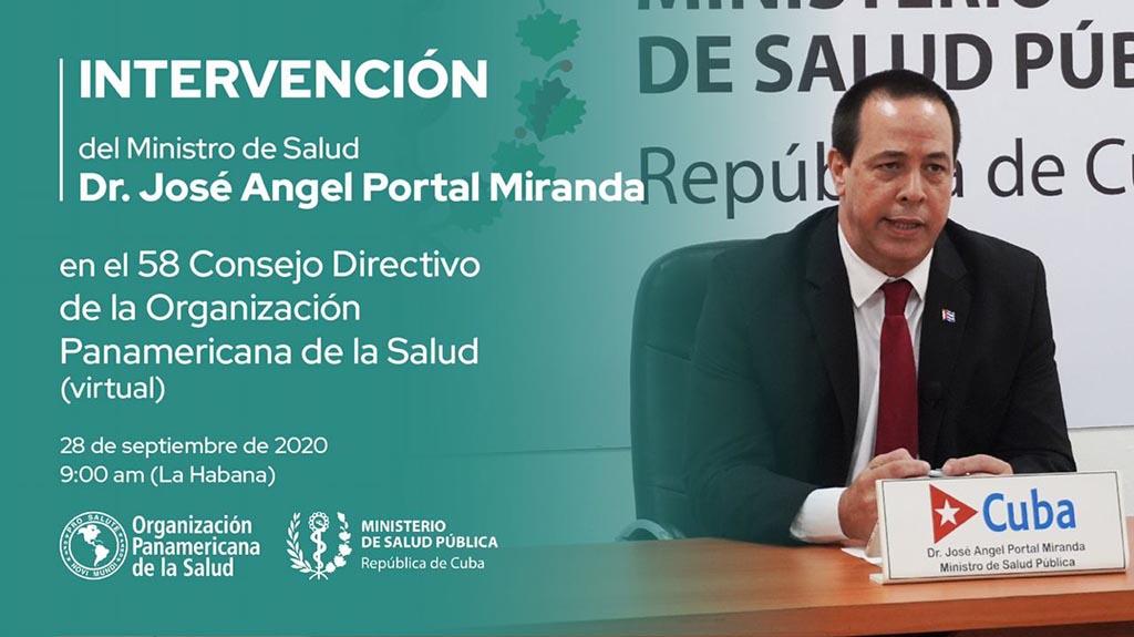 Intervendrá Ministro de Salud Pública de Cuba en el 58 Consejo Directivo de la OPS