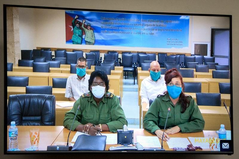 Videoconferencia, los Consejos de Defensa de Matanzas y Villa Clara