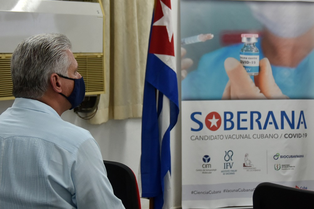Candidato vacunal cubano Soberana 1 avanza