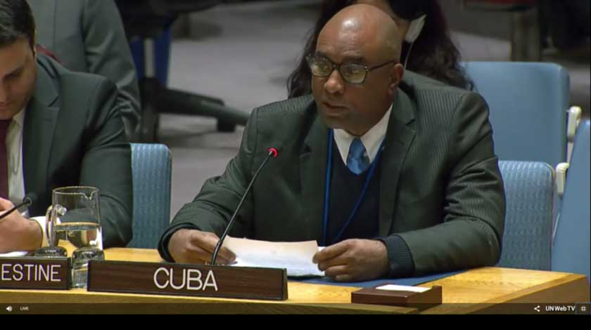 Cuba reiterates its unwavering solidarity with the Palestinian govt and people