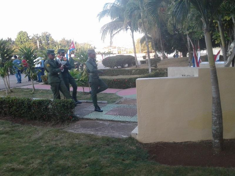 Una muestra de respeto al Héroe Nacional de cuba