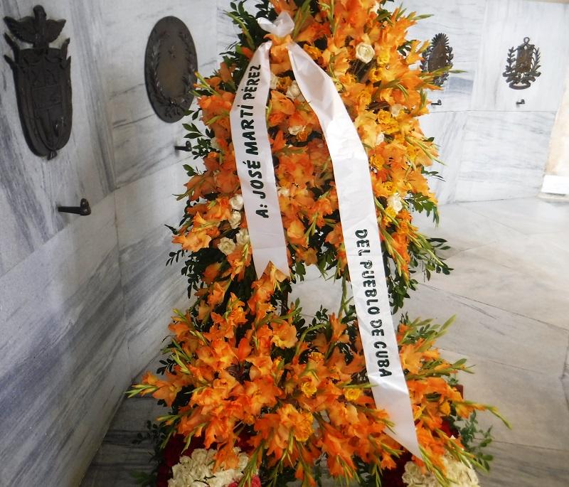 Homenaje a Martí en el aniversario 125 de su caída en combate