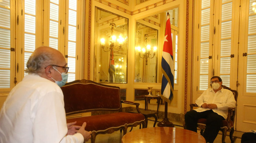 Bruno Rodríguez received the Spanish Ambassador, who ends his diplomatic mission in Cuba