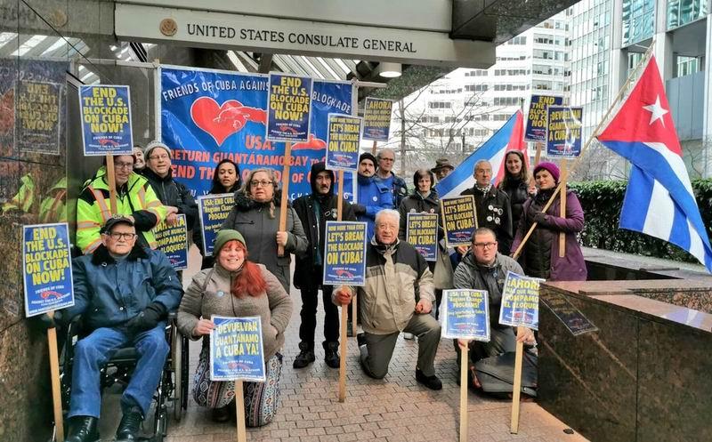 Ciudadanos en Canadá piden fin del bloqueo a Cuba