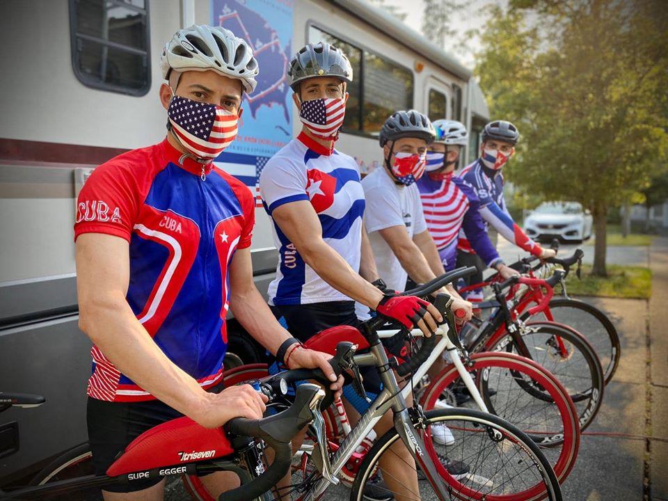 En EE.UU., Carlos Lazo sobre pedales por la ruta del amor y la esperanza en contra del bloqueo