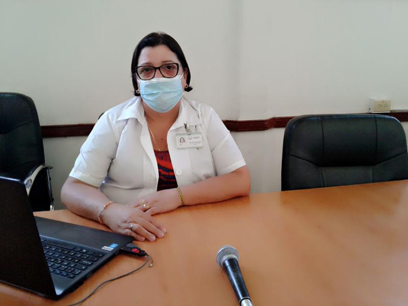 Jefa del Departamento de Vigilancia, de la dirección Provincial de Salud, Doctora Arelis Crespo García