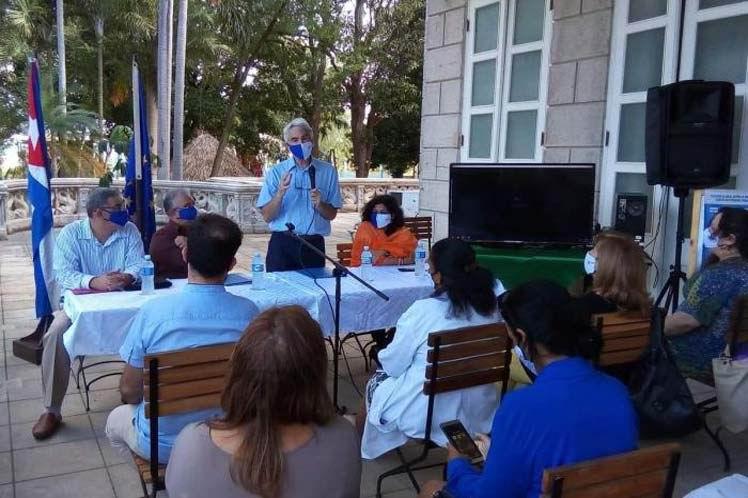 La Habana y UE colaboran en enfrentamiento a Covid-19