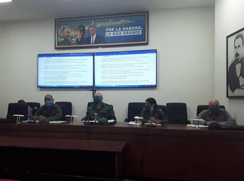 Evalúan en La Habana acciones de prevención y control a la covid-19