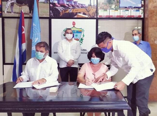 Firman Cuba y la FAO acuerdo para impulsar sistemas agroalimentarios más sostenible