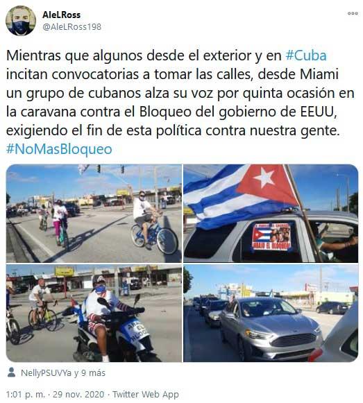 Caravana por las calles de Miami exige fin de sanciones contra Cuba