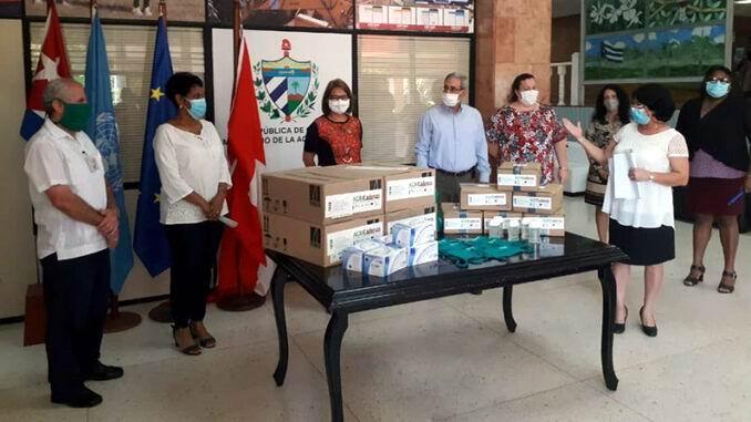 Dona el PNUD a Cuba medios de protección ante la Covid-19